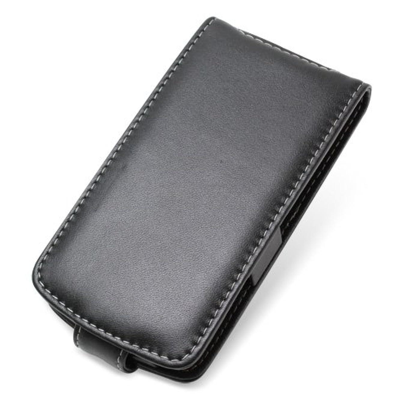 強打肥料四分円PDAIR レザーケース for ARROWS Z ISW13F au 縦開きタイプ(ブラック) PALCISW13FF/BL