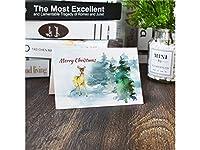 FenBuGu-JP 1 Pcクリスマスグリーティングカードクリスマスバレスカード封筒招待状カードギフトカード(カラフル)