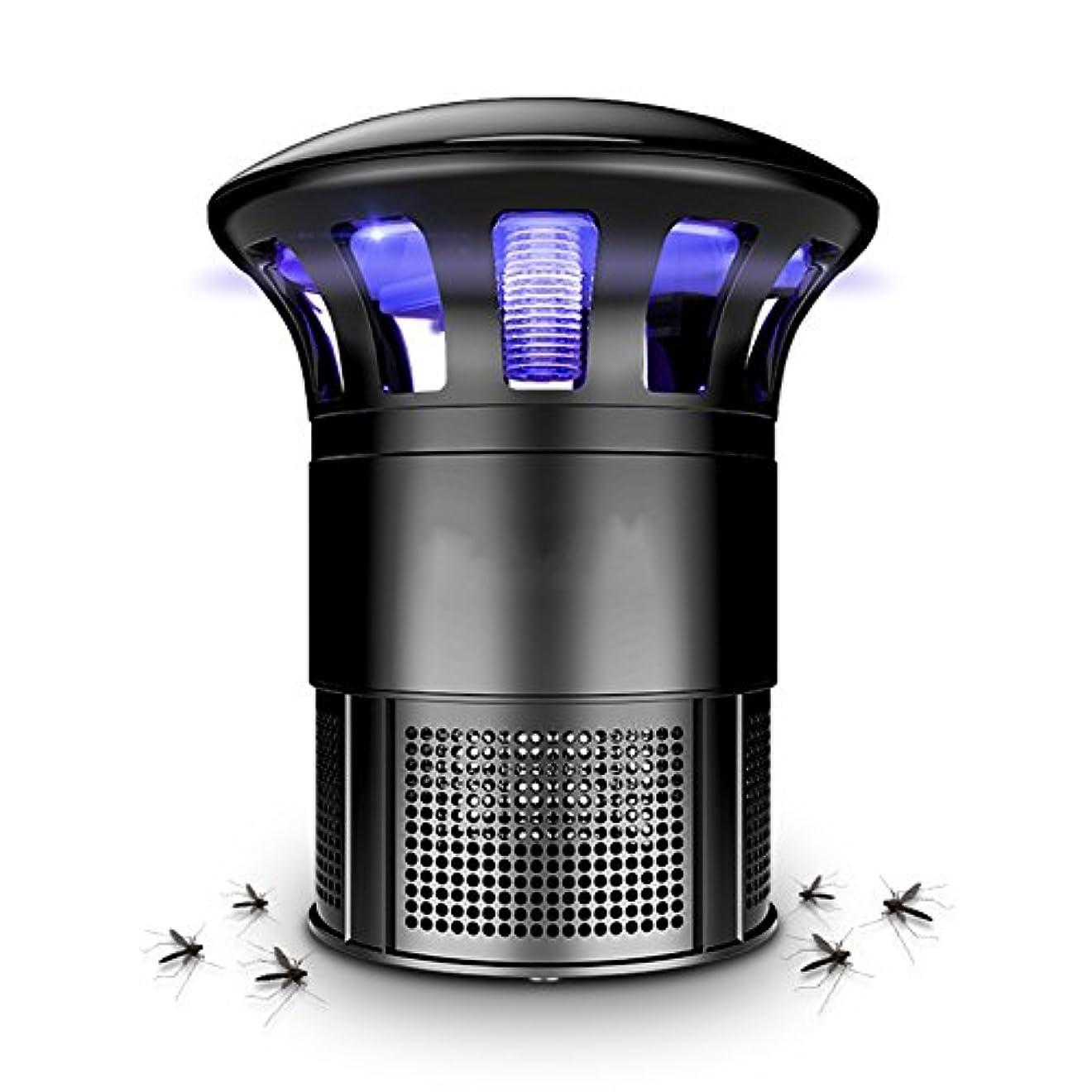 硬化する王室説教LIXIONG 蚊ランプ 屋内 吸入タイプ ミュート LED光源 物理的 360度サラウンド 抗蚊、 黒、 14.5×22cm (色 : 黒)