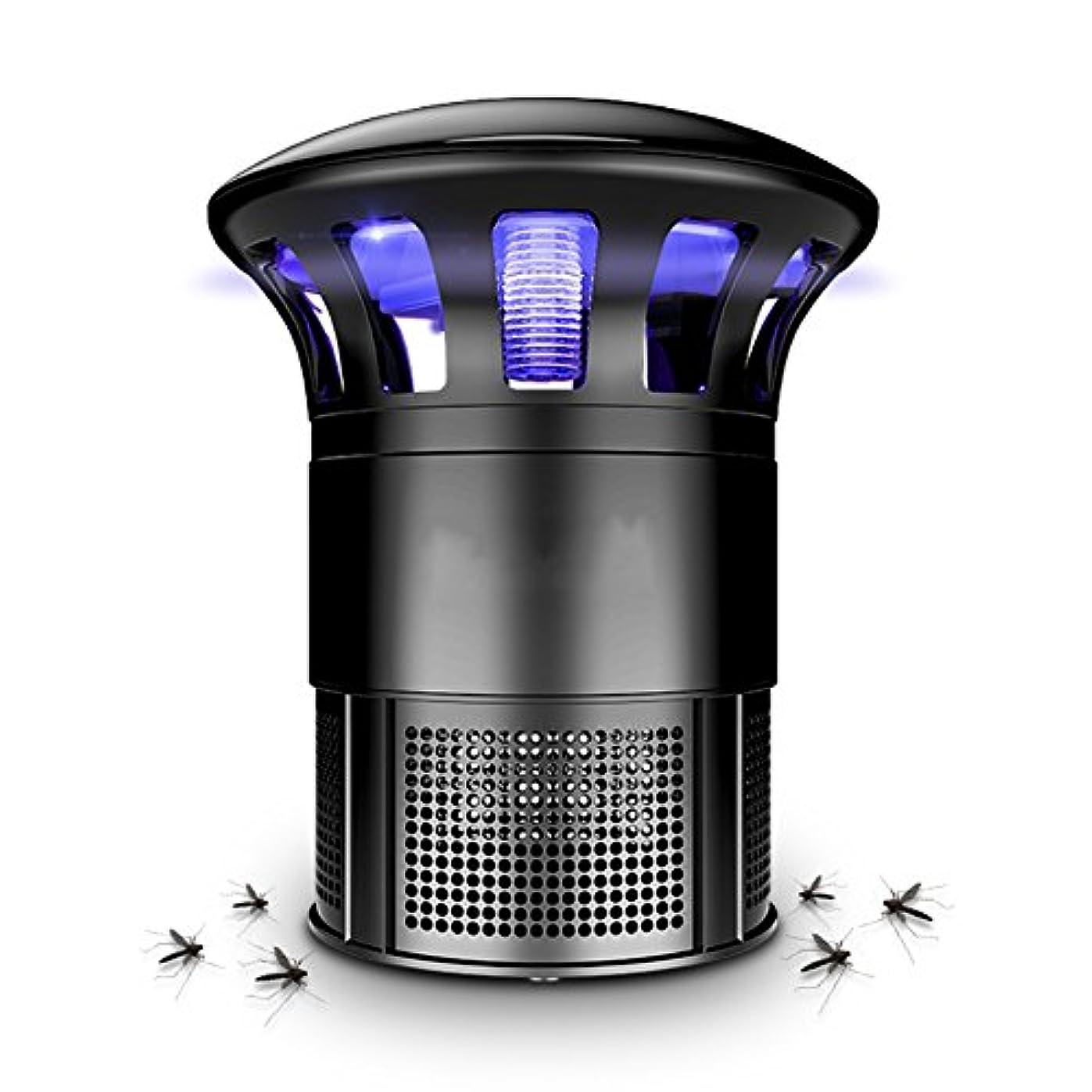 精査する説教する苦情文句LIXIONG 蚊ランプ 屋内 吸入タイプ ミュート LED光源 物理的 360度サラウンド 抗蚊、 黒、 14.5×22cm (色 : 黒)
