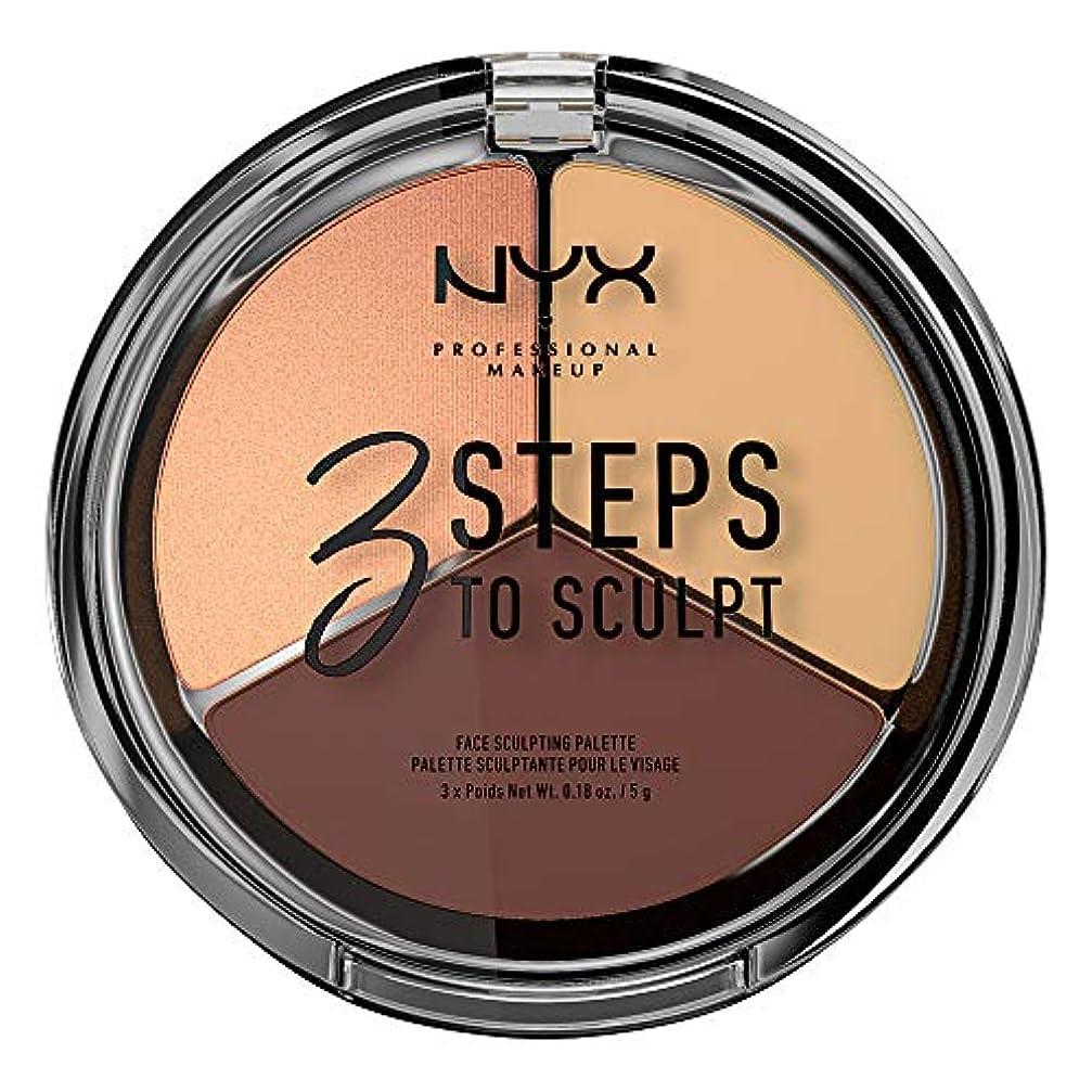 協同建設バトルNYX(ニックス) 3ステップス トゥー スカルプト フェイス スカルプティング パレット 03 カラーミディアム