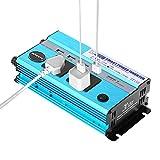 KKmoon カーインバーター 500W シガーソケット 車載充電器 USB 4ポート ACコンセント 2口 DC12VをAC220Vに変換