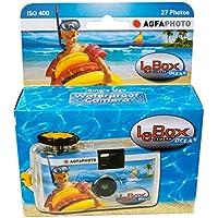 アグファ LeBox OCEAN 防水カバー付き レンズ付フィルムカメラ 27枚撮り 5m防水