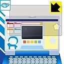 LED液晶画面のブルーライトを35 カット ブルーライトカット保護フィルム ドラえもんステップアップパソコン用 全面保護タイプ 日本製