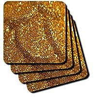 Anne Marie Baugh–Sparkle–のゴールドグリッターの写真–コースター set-of-4-Soft cst_213527_1