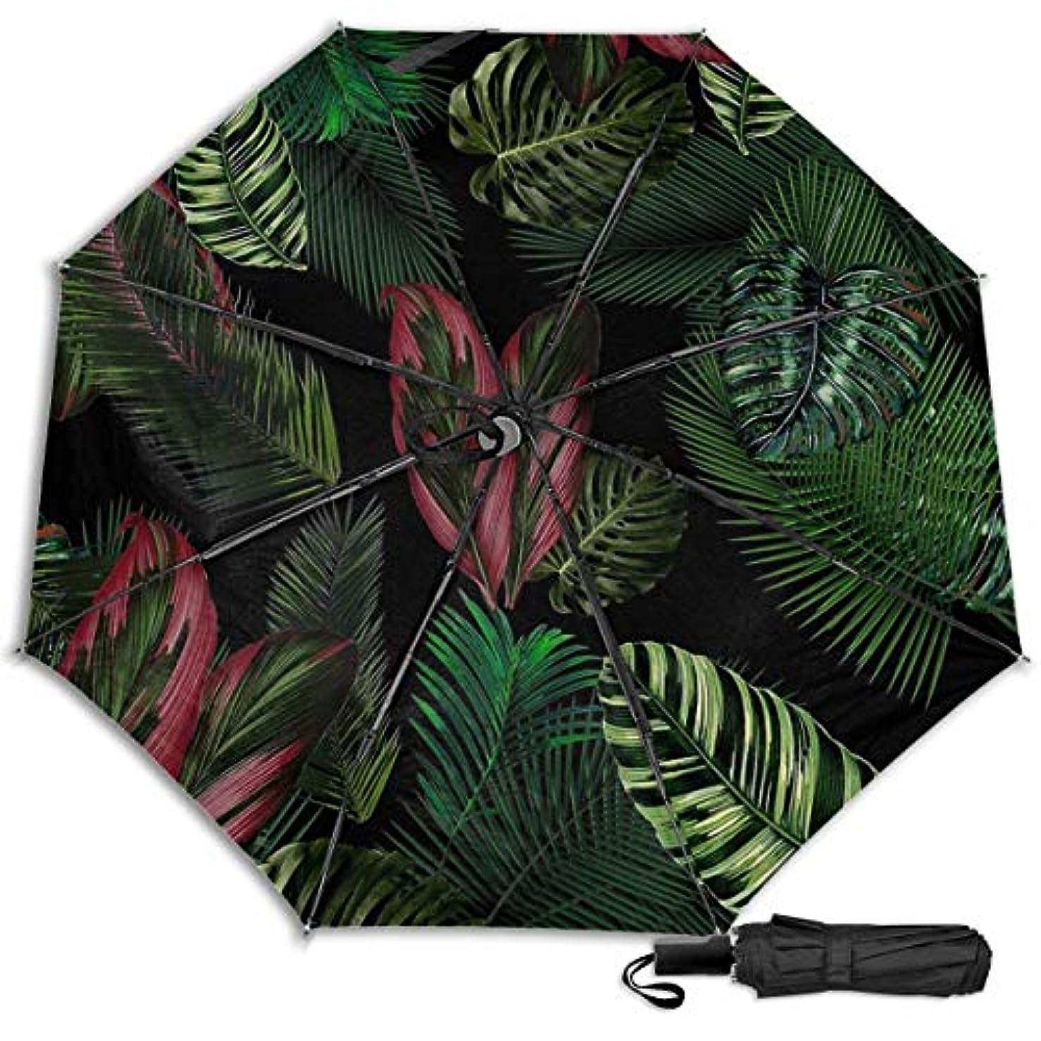 卵変換血統熱帯の葉の花のパターン日傘 折りたたみ日傘 折り畳み日傘 超軽量 遮光率100% UVカット率99.9% UPF50+ 紫外線対策 遮熱効果 晴雨兼用 携帯便利 耐風撥水 手動 男女兼用