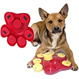 Dog Food Treat Toy, TZAMCW Dispensing Boredom Interactive Game Puzzle Training Finder Toys, iMichelle Paw Hide Treats Toy Slow Feeder Bowl Helps Prevent Bloating/Upset/Diarrhea,Entertaining and Brain-Engaging