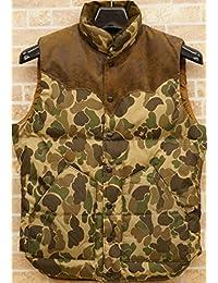 (ダブルアールエル) RRL イタリアンスウェード使用 カモフラ ダウンベスト メンズ Suede-Yoke Camo Down Vest 並行輸入品 [並行輸入品]