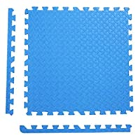 GYYARSX ジョイントマットコルクマット幼児クロール屋内アウトドアジムホームデコレーション床、10色、2サイズを保護 (Color : Blue, Size : 60X60X1.2CM-6pcs)