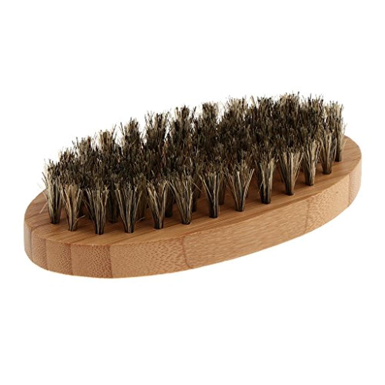 ジョージハンブリー女王盆地CUTICATE プロサロン美容師のひげ口髭の楕円形の軍事グルーミング木製のブラシ男性用