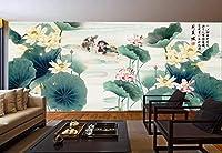 ウォーターロータスの壁紙テクスチャ実用的剥離可能インストール家具幾何学的な使用フェイクリムーバブルプリント装飾ステッカー壁紙理想的なリビングルーム