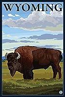 Bisonシーン–Wyoming 16 x 24 Giclee Print LANT-14265-16x24