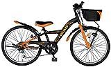 HEAD(ヘッド) キッズバイク Absolute [アブソル—ト] [24インチ/CIデッキ/LEDオートライト搭載/オリジナルサドル/6SPEEDS] CBQ-HE246A マットブラック×マットオレンジ