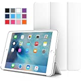 iPad Mini 4 ケース - ATiC Apple iPad Mini 4 (2015) 7.9 インチ iOS タブレット専用開閉式三つ折薄型スタンドケース。WHITE (オートスリープ機能付き) (iPad Mini 3/2/1に適応ない)