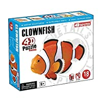 Constructive Playthings 26543 4D Puzzle - Clown Fish Grade: Kindergarten to 5 Age: 5.25 Height 1.75 Wide 4.5 Length [並行輸入品]