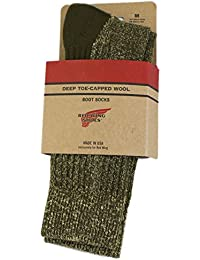 (レッドウィング) RED WING 97178 Deep Toe Capped Toe Wool Boots Socks 靴下 Olive オリーブ