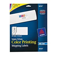 Avery Matte White Color Inkjet Printing Labels (8253) [並行輸入品]