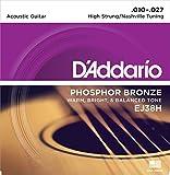 D'Addario ダダリオ アコースティックギター弦 フォスファーブロンズ High-Strung/Nashville Tuning .010-.027 EJ38H 【国内正規品】