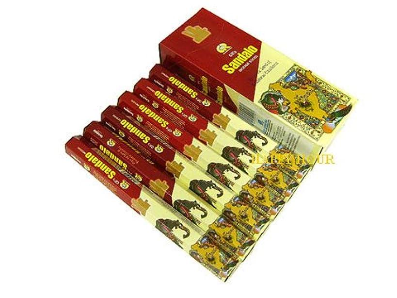 コショウ地下室ほこりG.R.INTERNATIONAL(ジーアールインターナショナル) サンダル香 スティック SANDALO 6箱セット