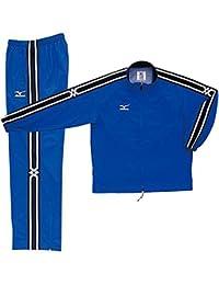 ミズノ(MIZUNO) ウインドブレーカーシャツ&パンツ 上下セット(ブルー/ブルー) A60WS830-22-A60WP830-22