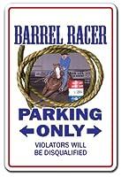 Barrel Racer Sign |インドア/アウトドア|面白いホーム飾りのガレージ、リビングルーム、ベッドルーム、オフィス| SignMission Western Cowboy RodeoギフトHorseスポーツブロンコロープ状Pony Tack Sign装飾