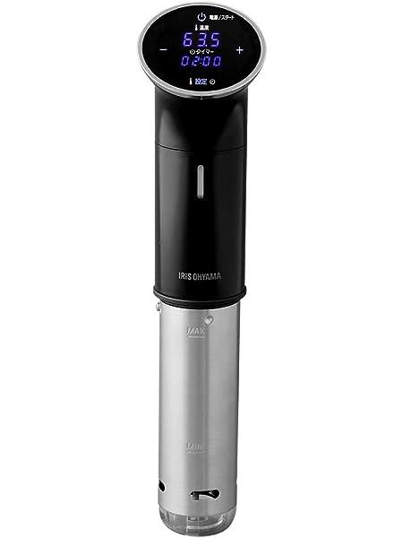 アイリスオーヤマ 低温調理器 真空調理器 スロークッカー IPX7防水 低温調理器具 防水機能搭載 レシピブック付き ブ…