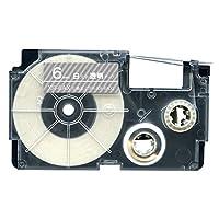 カシオ用 ネームランド 互換 テープカートリッジ XR-6AX ラベル 6mm 透明テープ 白文字