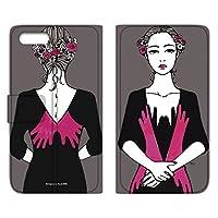 majocco iPhone8 ケース 手帳型 薄型プリント手帳 手を触れるC (mj-003) カード収納 ストラップホール スタンド機能 WN-LC794240_ML