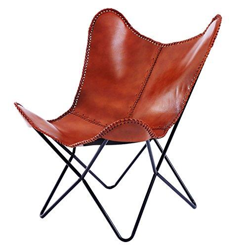 LOWYA (ロウヤ) チェア パーソナルチェア 椅子 本革 ヴィンテージ調 アクセントステッチ レザー ブラウン