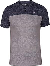ハーレー トップス シャツ Hurley Men's Catalina Henley T-Shirt Obsidian [並行輸入品]