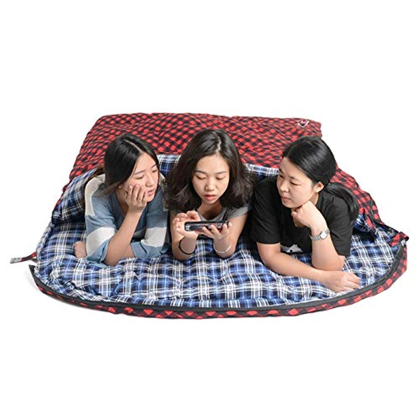 地殻グループ積分アウトドア寝袋キャンプ旅行アウトドアキャンプ旅行マウンテンハイキングバックパッキング特大のサーマル寝袋