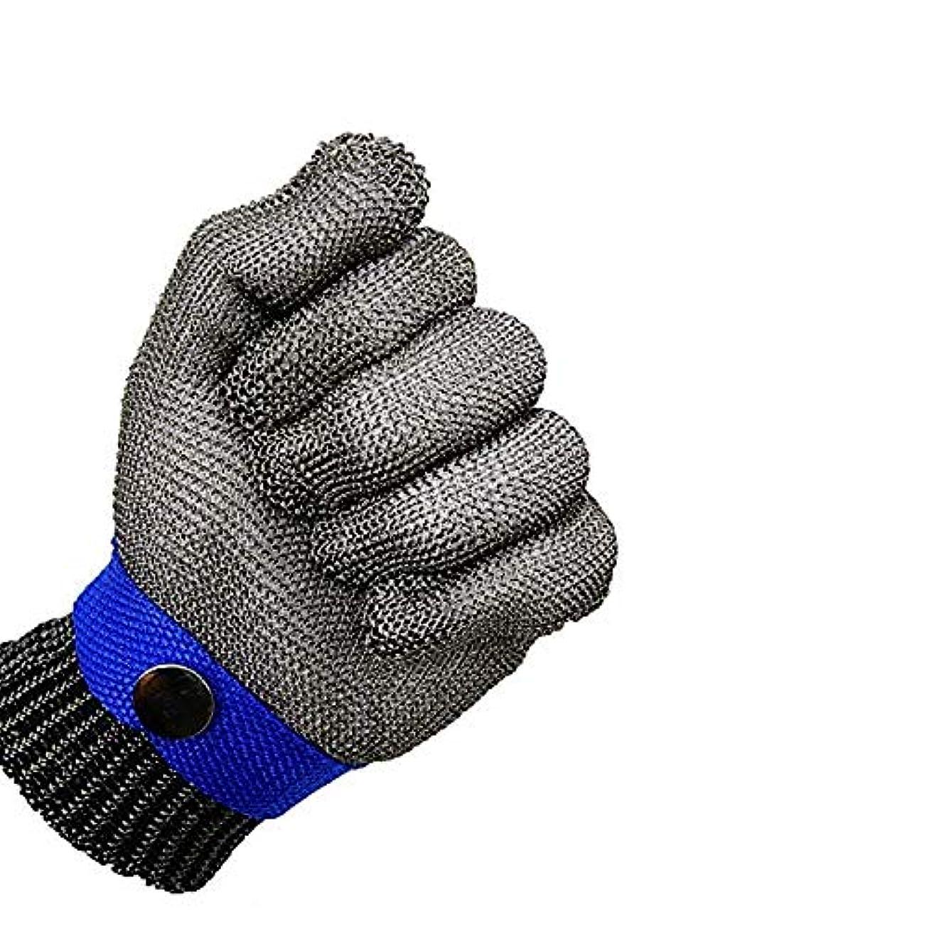 配置その間抑圧者耐切断性手袋、ステンレススチールメッシュ金属ワイヤグローブ - 耐久性に優れた防錆信頼ブッチャーグローブ最新の素材,S