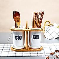 キッチンの保管と編成 収納フレームクリエイティブセラミック箸チューブ二重箸チューブ排水金型箸箱キッチン食器 キッチンシェルフ