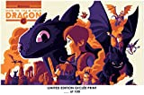 LostポスターRareポスターThick How to Train Your Dragon Limited 2010ミニマリスト再印刷# ' d/10012?x 18