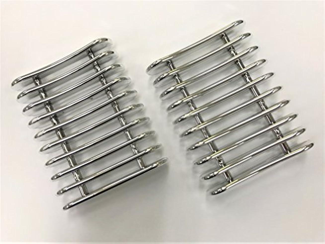 ランタン導入する損なう【アウトレット】ネイルブラシホルダー2個セット ブラシスタンド ジェルネイル筆置き ネイル用品  一部にメッキ剥がれあり(下地の白が少し見える程度で使用に問題はありません)