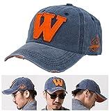 Ungfu Mall キャップ メンズ 野球帽 W刺繍 おしゃれ カジュアル 調節可能 帽子 レディース