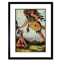 Higgins American Indian Tales Spirit Wall Art Framed Wall Art Print アメリカ人インド人壁壁
