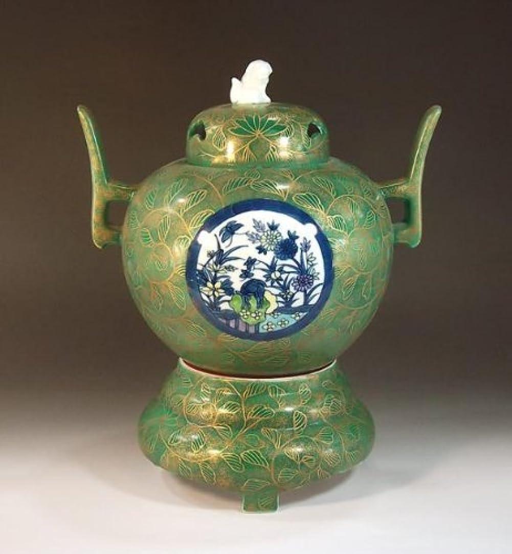 喜ぶ理解素晴らしいです有田焼・伊万里焼の陶器高級香炉|贈答品|ギフト|記念品|贈り物|唐草景図・陶芸家 藤井錦彩