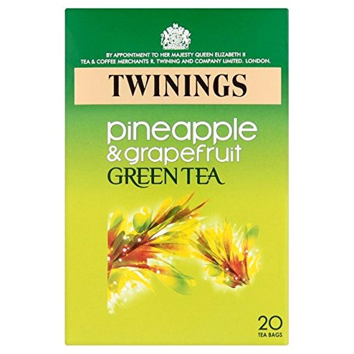 歩行者ベストマニアック1パックトワイニングパイナップル&グレープフルーツ緑茶20 (x 6) - Twinings Pineapple & Grapefruit Green Tea 20 per pack (Pack of 6) [並行輸入品]