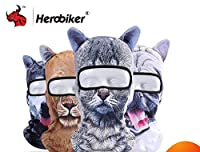 HEROBIKER オートバイ Face Mask 3D アニマル Ears Balaclava 通気 Quick Dry Face Shield