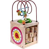 Greensun TM Big Baby Toys多機能木製Around Bead Maze形状色認識数学クロックFlyingチェスギアキューブ教育玩具