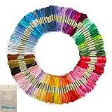 Winning【あると嬉しい糸巻き板付き】100本98色 カラーが豊富できれい! 刺しゅう糸 まとめ買い オリジナルセット
