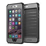 Anker® iPhone 6 Plus 5.5インチ用 スクリーンプロテクタ内蔵強力保護ケース 落下試験済み 防水・防塵機能付 (ブラック/グレイ)