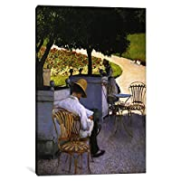 iCanvasART 1ピースオレンジ色の木キャンバスプリントby Gustave Caillebotte 0.75 x 18 x 26-Inch 15020