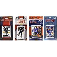 NHL Edmonton Oilers 4異なるライセンスTradingカードチームセット、ブラウン、1サイズ