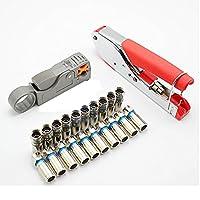 enterest Extrudingペンチ同軸ケーブルFヘッドCold圧力ペンチrg59/rg6ケーブルテレビ圧着ペンチケーブル圧着ペンチ3で1便利な実用的高効率