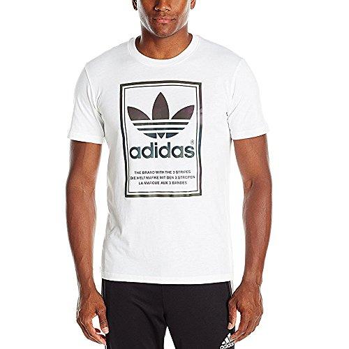(アディダス) adidas XENO FRAMED TEE AY9603 AY9602 Tシャツ 半袖 メンズ ホワイト 白 ブラック 黒 ロゴ オリジナルス ホワイト S