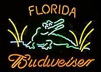 Desungブランド新しいB udweiserフロリダGator Alligator Neon Sign (各種サイズ) ビールバーパブMan Caveビジネスガラスネオンランプライトdc242 20 Inches