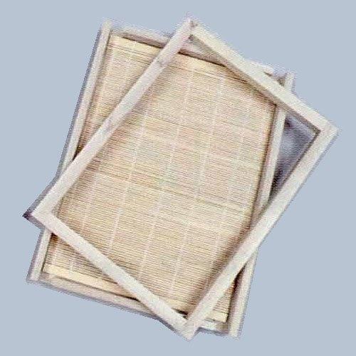 紙すき木枠・すだれセット B5判 木製 B05-4527