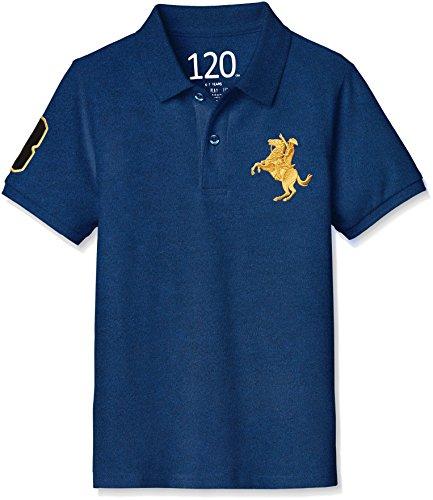 (ジョルダーノ) GIORDANO ナポレオン刺繍ポロシャツ GD18SP-03018210 011 ブルー 120